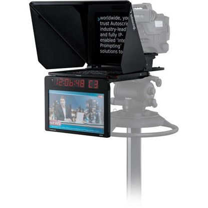 "Picture of Autoscript EPIC-IP on-camera package with 17"" prompt monitor and integrated 17"" talent monitor"
