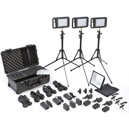 Picture of Litepanels Lykos BiColor Flight Kit with Battery Bundle - EU