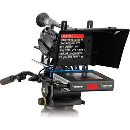 "Picture of Autoscript 8"" (20.3 cm) High Bright LED On-Camera Prompter Package."