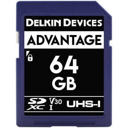 Picture of Delkin Devices 64GB Advantage UHS-I SDXC Memory Card