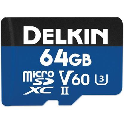 Picture of Delkin Devices 64GB Prime UHS-II microSDXC Memory Card