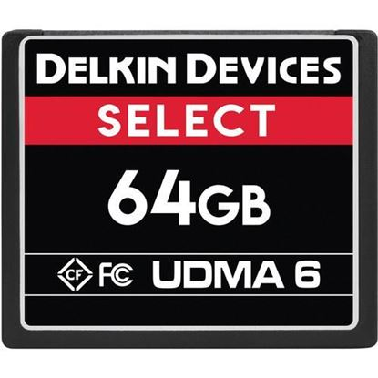 Picture of Delkin Devices 64GB Select UDMA 6 CompactFlash Memory Card