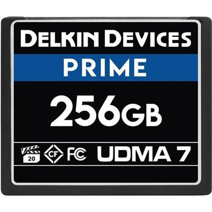 Picture of Delkin Devices 256GB Prime UDMA 7 CompactFlash Memory Card