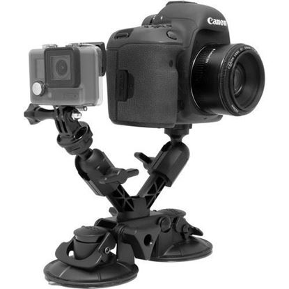 Picture of Delkin Devices Fat Gecko X Mount with Dual Camera Support and Dual Suction