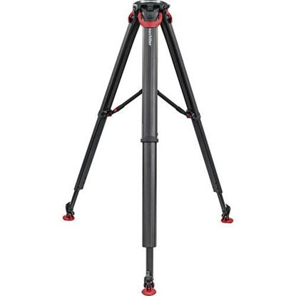 Picture of Sachtler flowtech 100 MS Carbon Fiber Tripod with Mid-Level Spreader & Rubber Feet