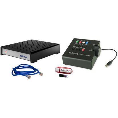 Picture of Autocue/QTV QMaster SDI and QBox V6 Package with USB Multi-Button Hand Control