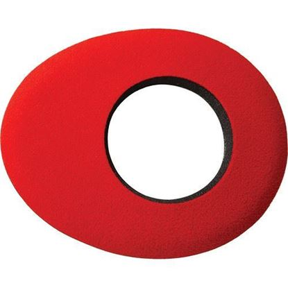Picture of Kinotehnik Blue Star Oval Small Eye Cushion for Professional Viewfinders, Red Microfiber